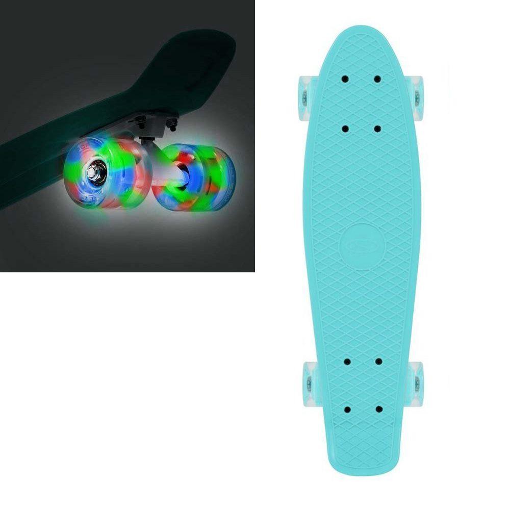 Fiszka świecąca SMJ LED deskorolka 56cm błękitna