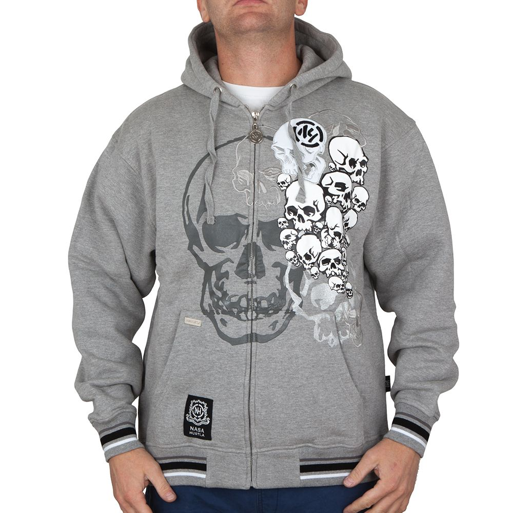 Bluza Nasa Hustla Skulls Grey Outlet