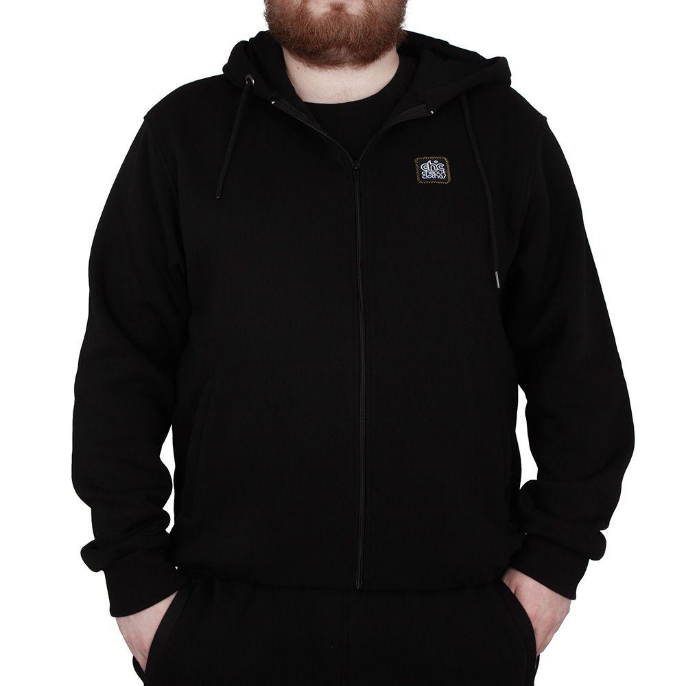 Bluza rozpinana Chillout Tager BIG czarna Size