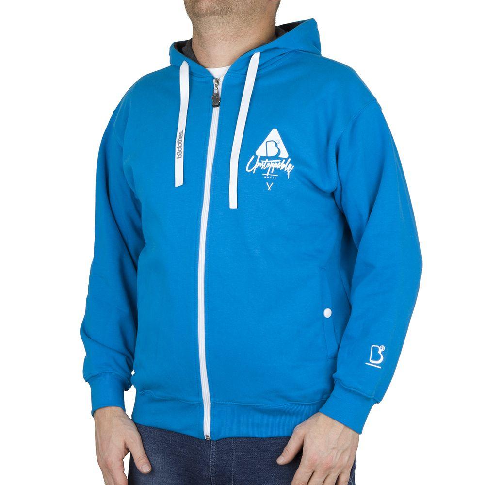 Bluza z kapturem B3 zip ICON Niebieska