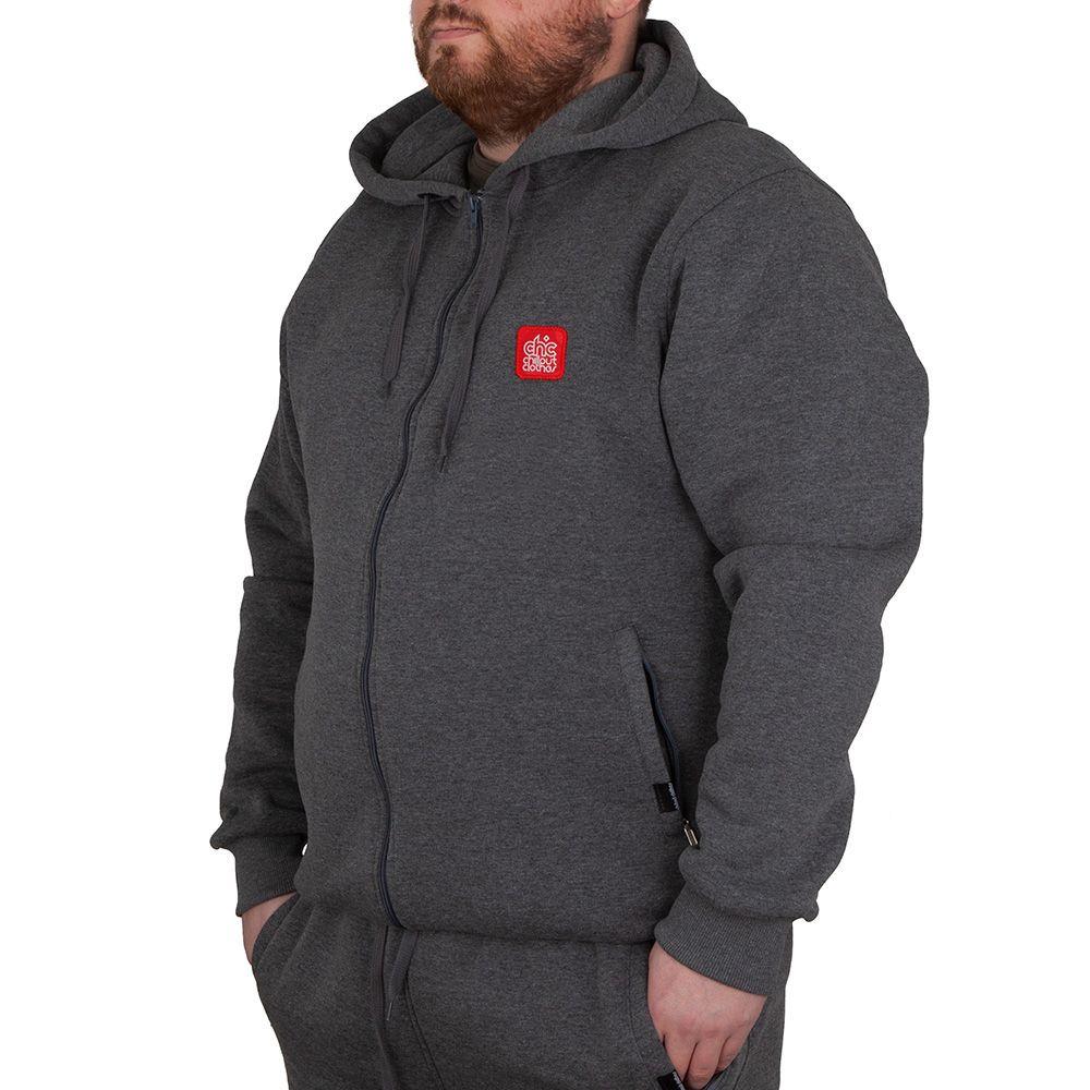 Bluza z kapturem Chillout Tager BIG GRY Size Y