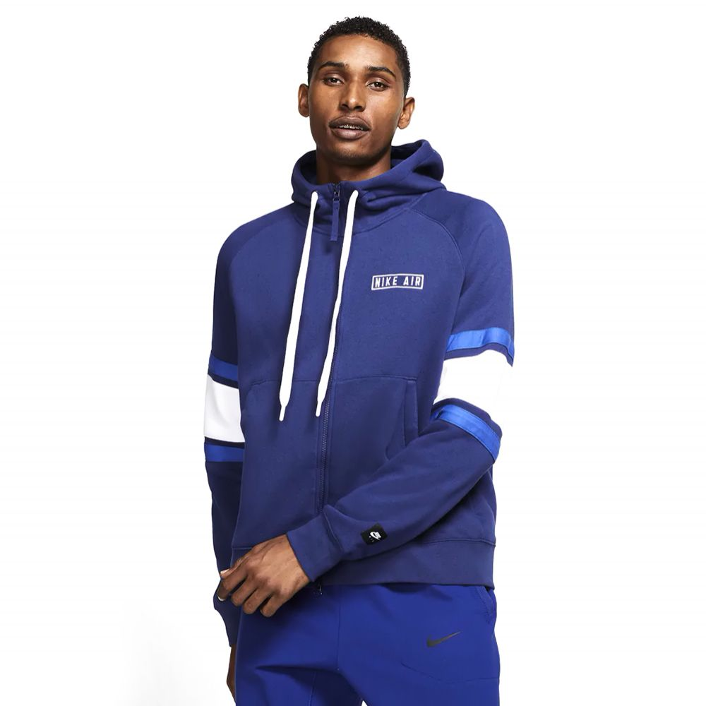 Bluza z kapturem Nike Air granatowa zip