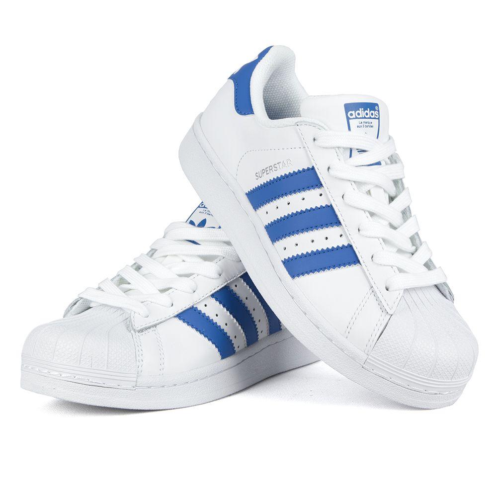 Buty Adidas SUPERSTAR Białe blu Sneakersy