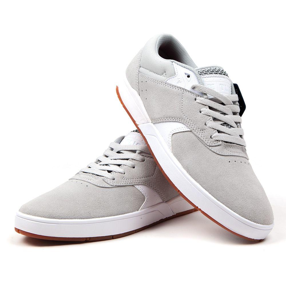 Buty DC Shoe Tiago S skóra biało szare Air