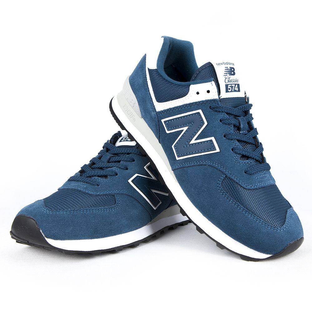 Buty New Balance ML574ESM niebieskie sneakersy