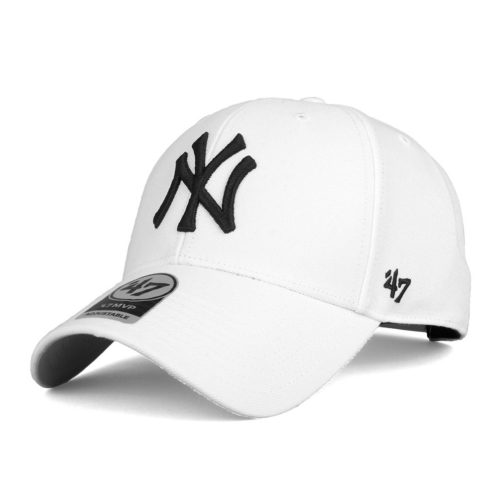 Czapka 47 Brand MVP Snapback NY Yankees biała