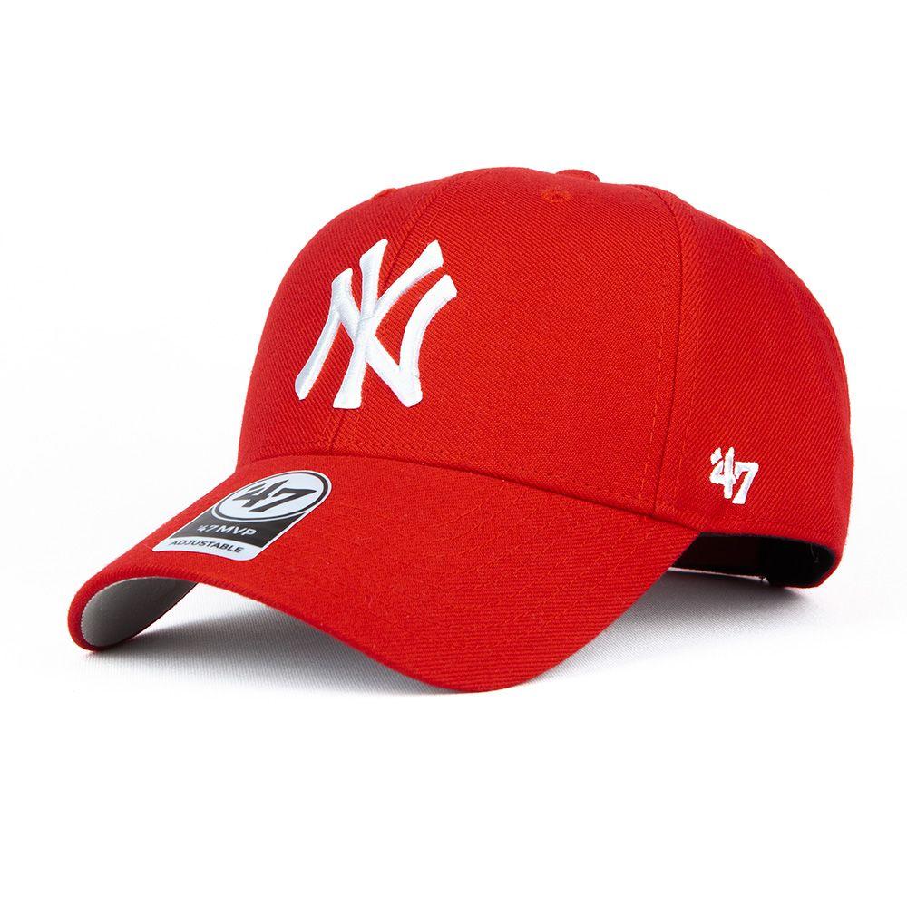 Czapka 47 Brand MVP Snapback czerwona NY Yankees