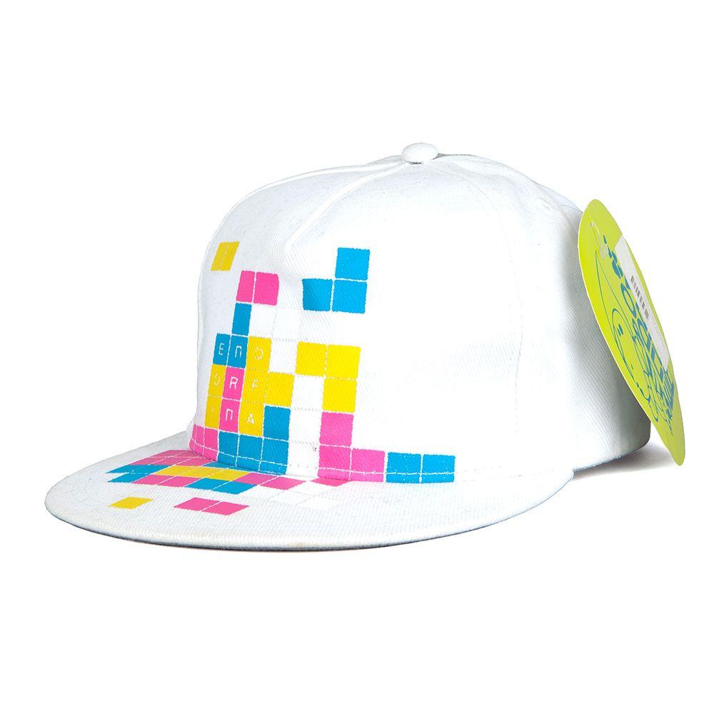 Czapka Endorfina Tetris biała snapback OUTLET