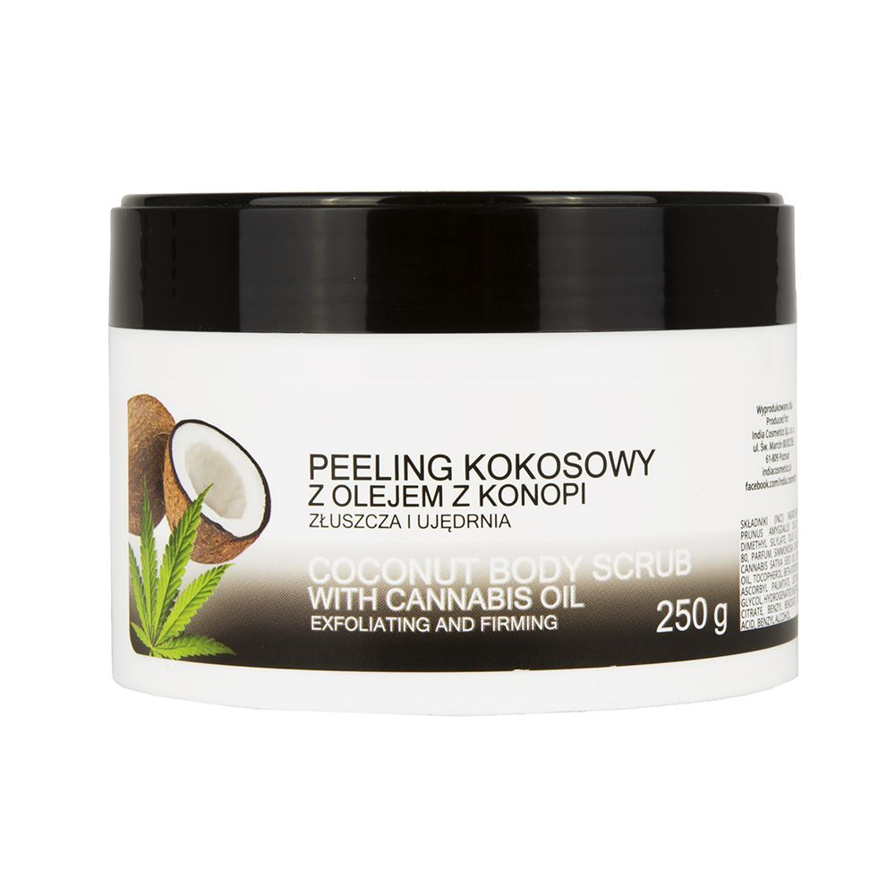 Peeling kokosowy z konopi India Cosmetics 250 ml