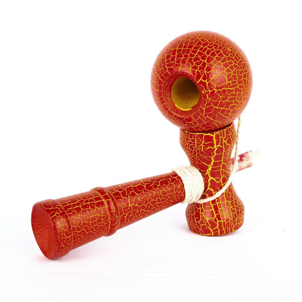 Kendama gra japońska drewniana start Red yel 58mm
