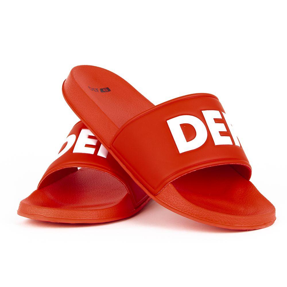 Klapki plażowe basenowe DEF Defiletten czerwone