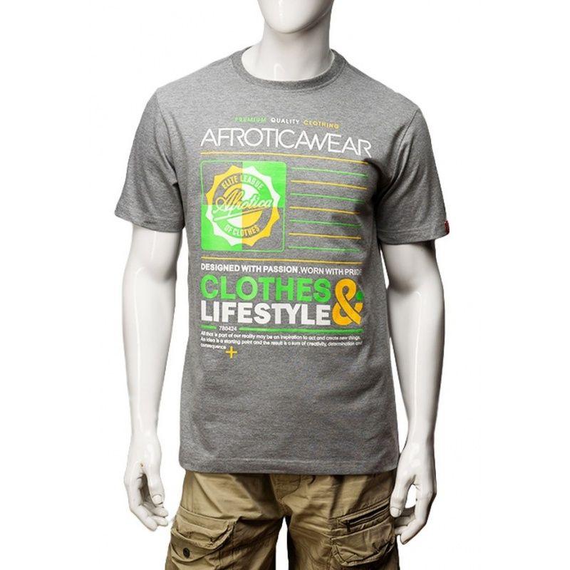 Koszulka Afrotica QUARTER 392 C szara 190g