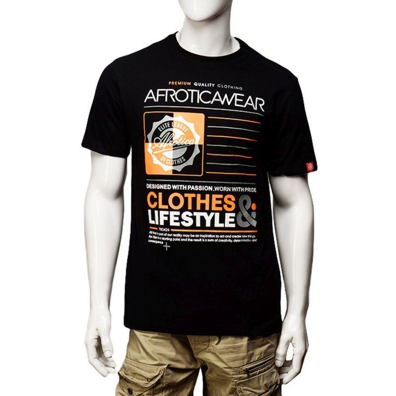 Koszulka Afrotica QUARTER 392 D czarna o 190g