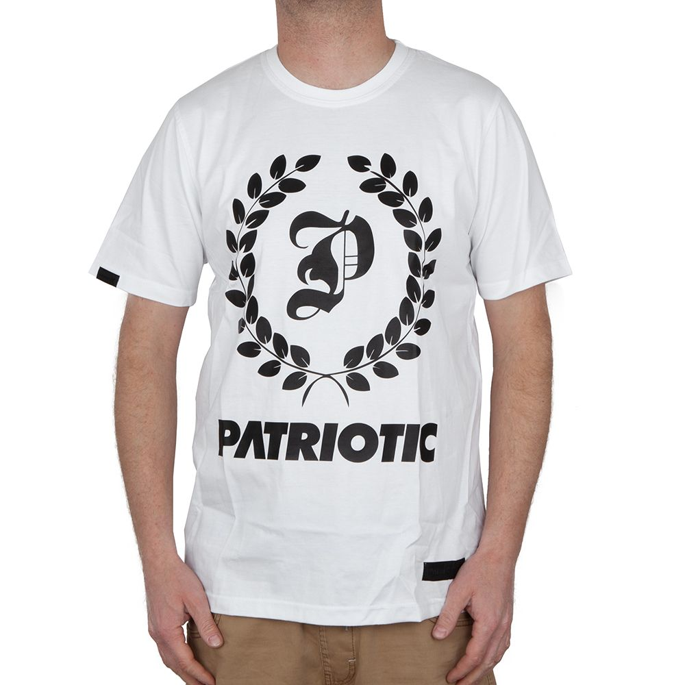 Koszulka Patriotic Logo laur biała