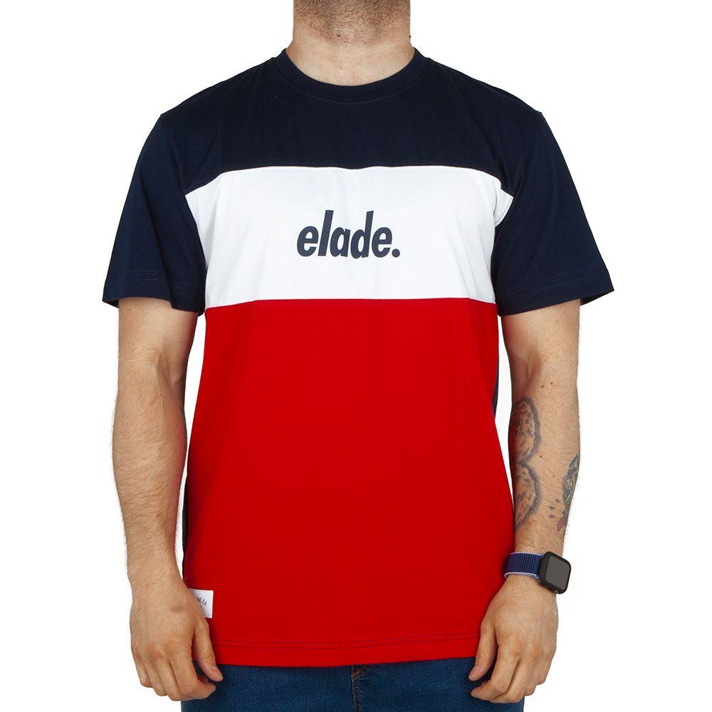 Koszulka T-shirt Elade Block Db czerwona wht
