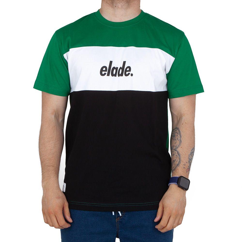 Koszulka T-shirt Elade Block Zielona czarna