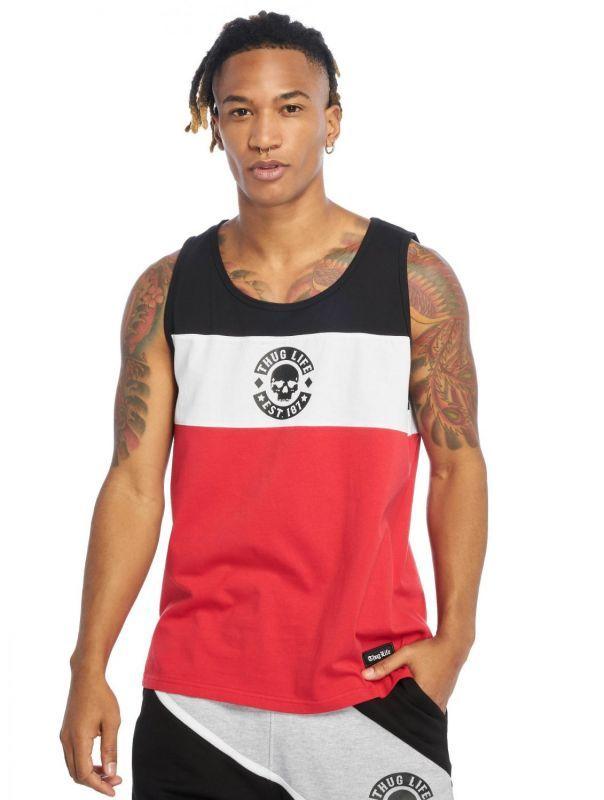 Koszulka Tank Top Thug Life Lion czerwona