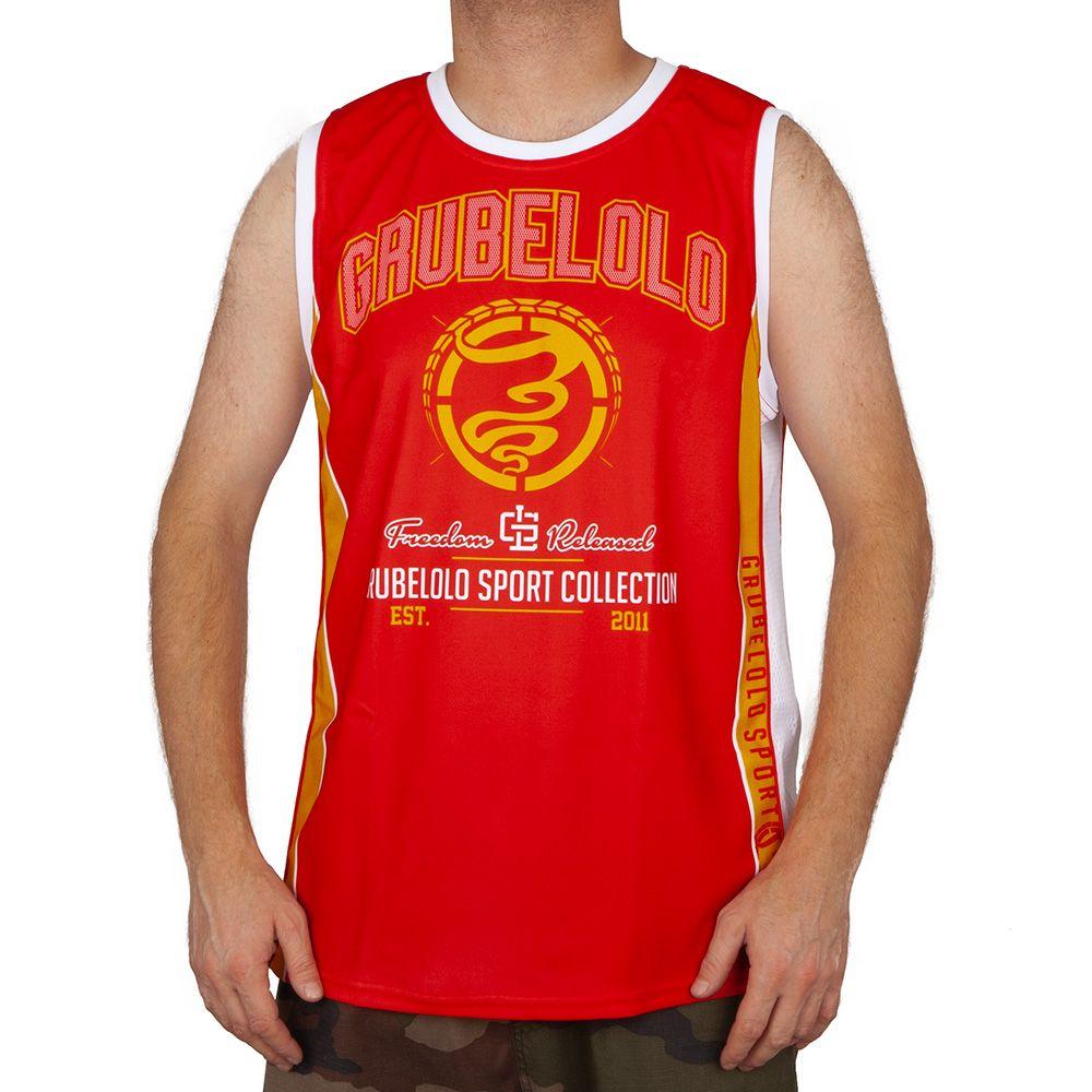 Koszulka Tank top Grube Lolo Sport czerwona