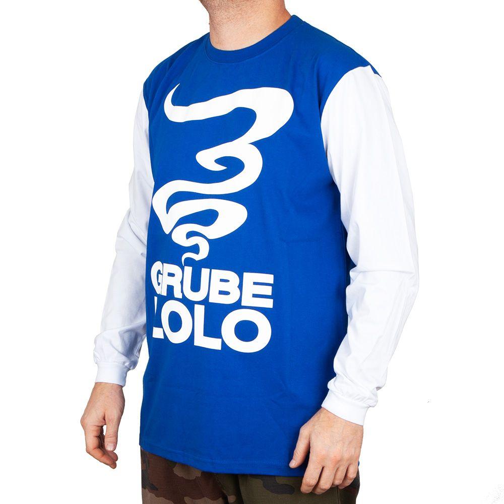 Koszulka z długim rękawem Grube Lolo Dymek blu