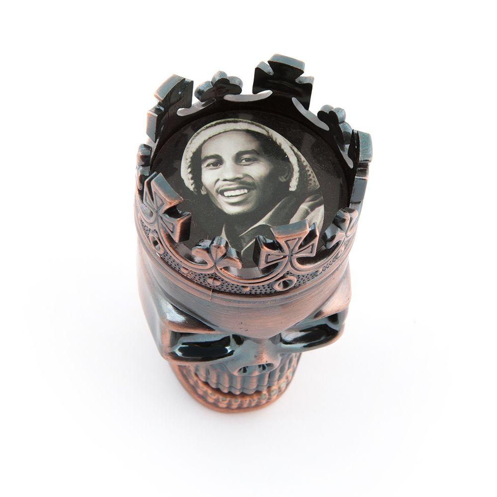 Młynek Grinder Czacha Król Marley Bob pojemnik M