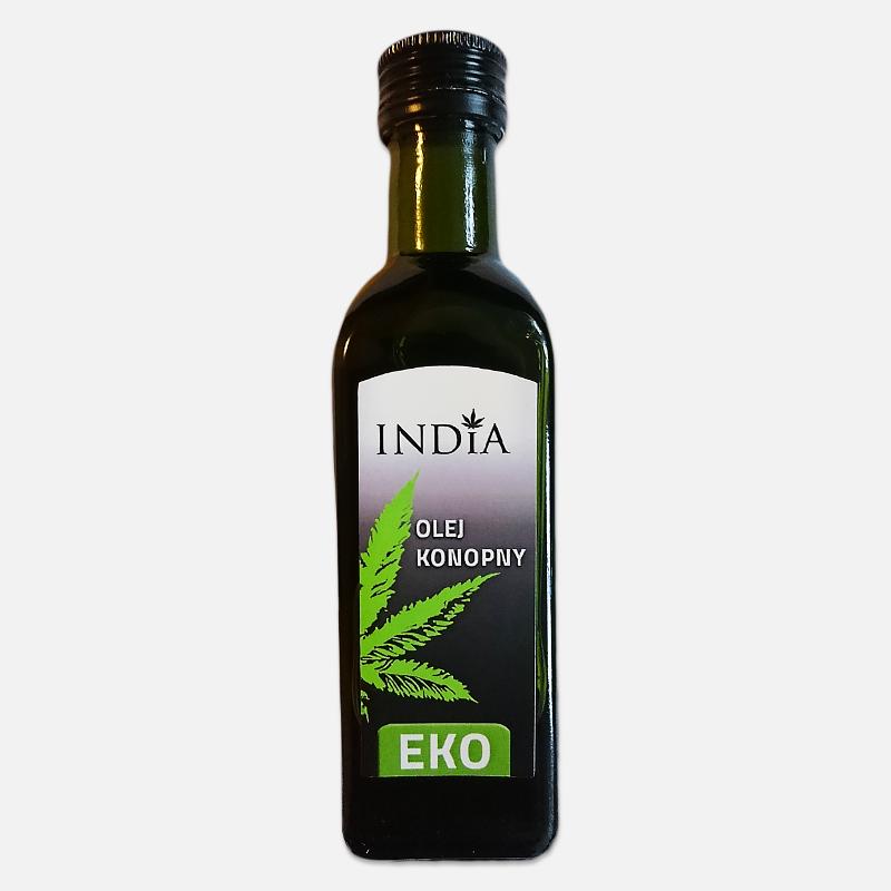 Olej konopny tłoczony na zimno ECO India 100ml