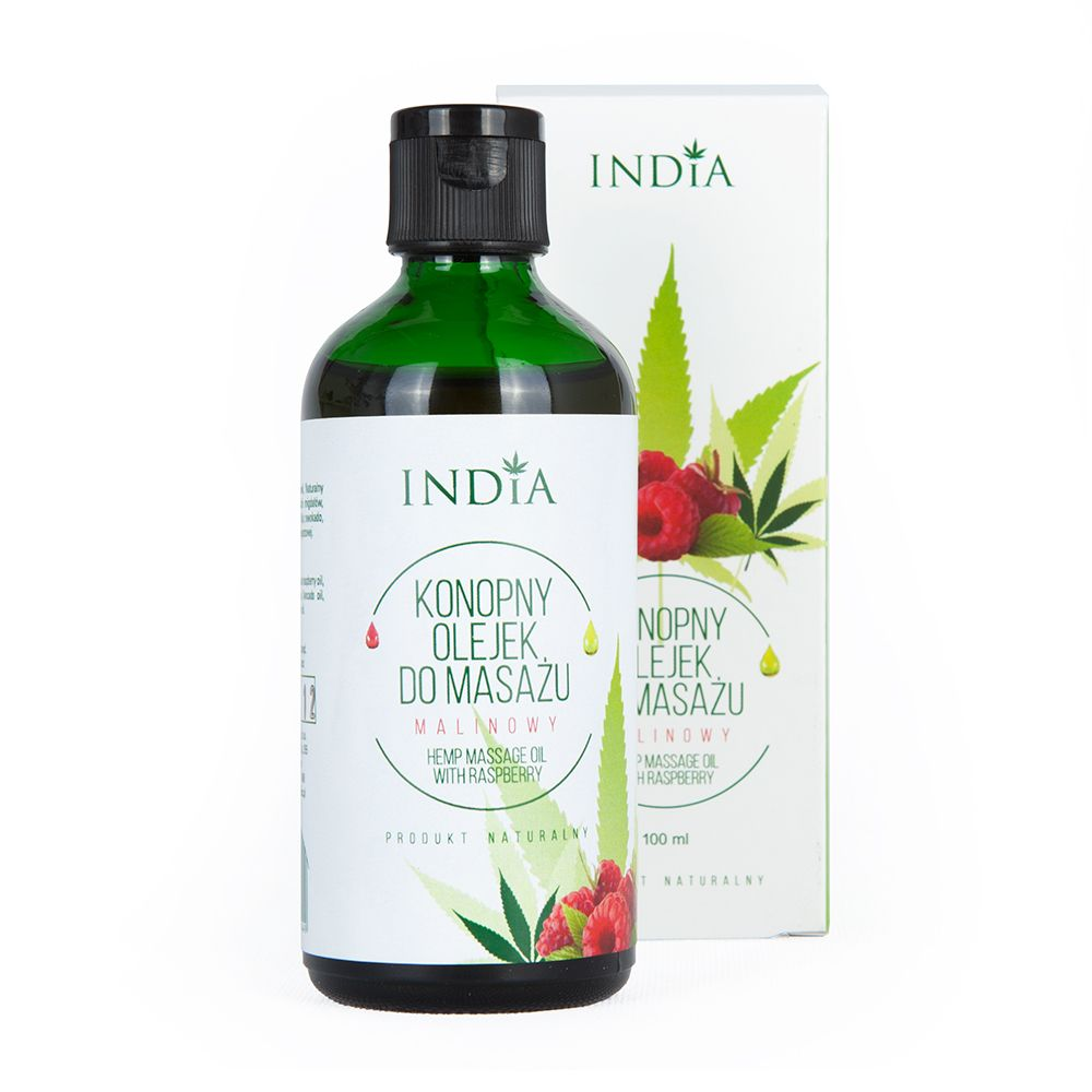 Olejek do masażu India Cosmetics malinowy 100ml