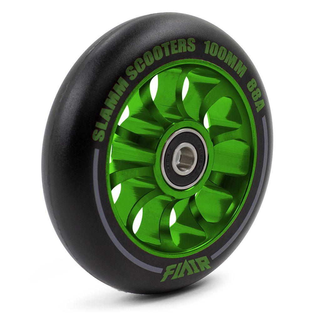 Auminiowe koła do hulajnogi Slamm 100mm Flair 2.0 green