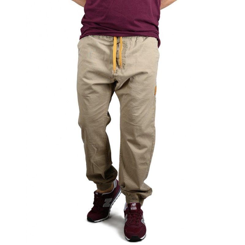 Spodnie Afrotica Jogger SQUARE 475 D Beżowe