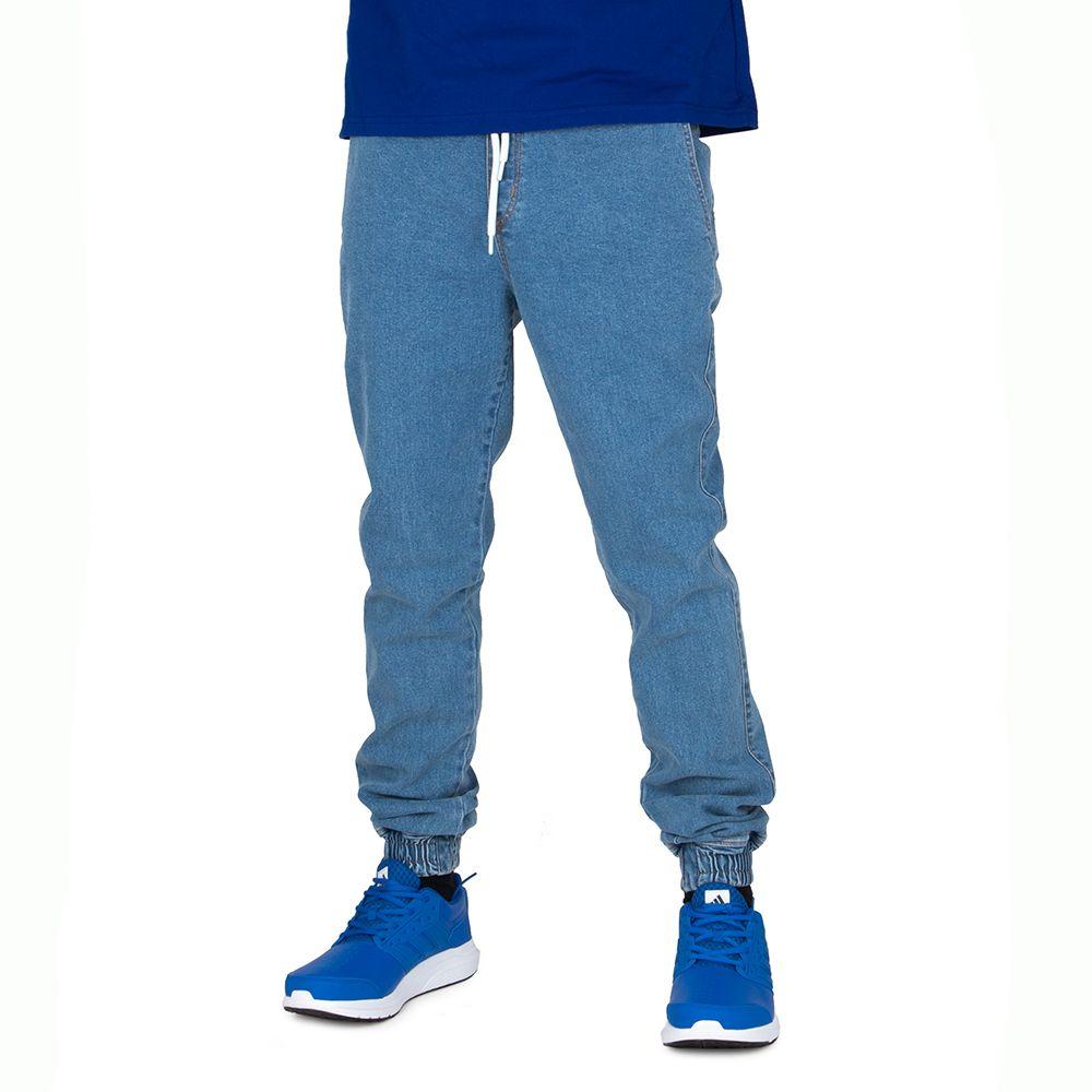 Spodnie Elade jogger Denim Logo Niebieskie