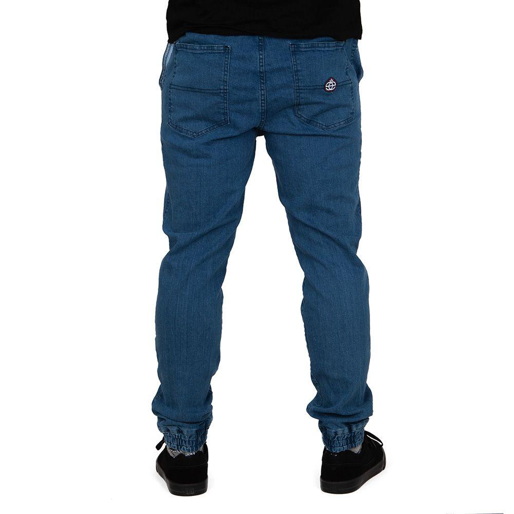 Spodnie Elade jogger Mini Icon niebieskie wąskie