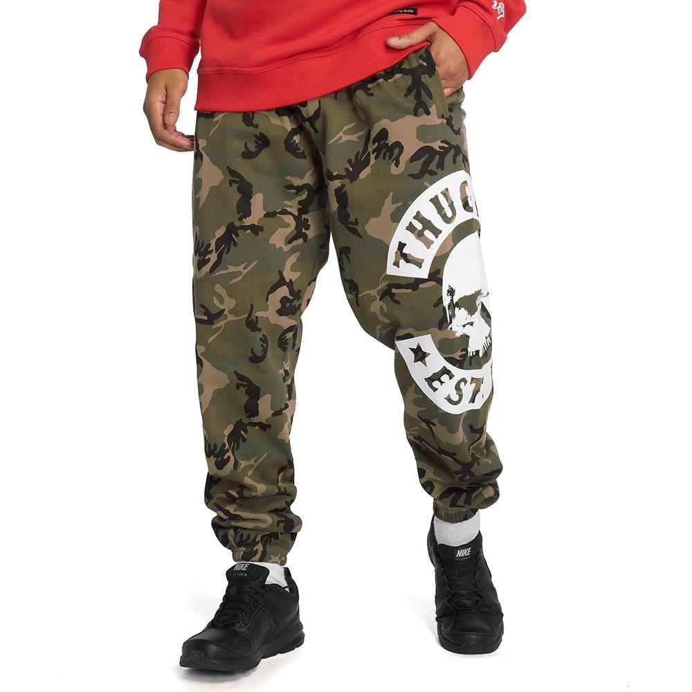 Spodnie dresowe Thug Life B.Camo moro zielone