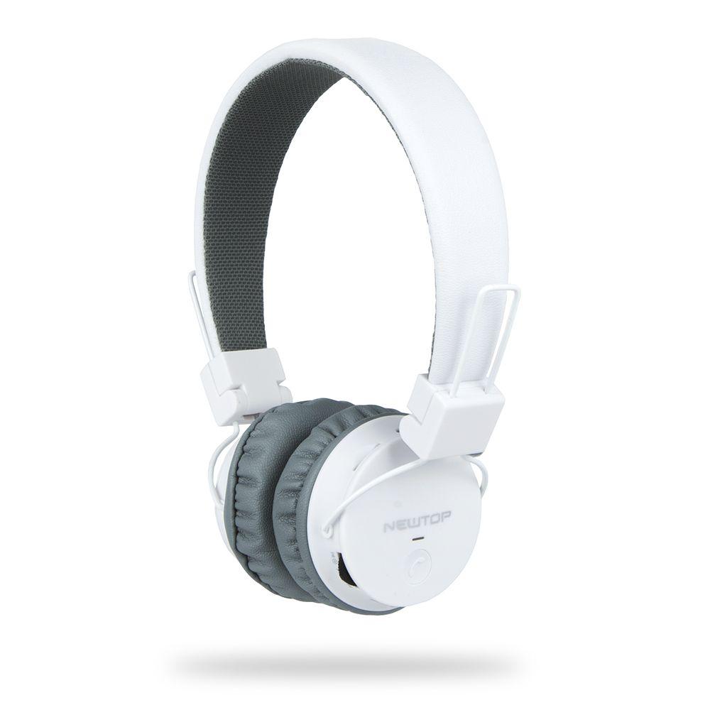 Słuchawki bezprzewodowe bluetooth NewTop Białe