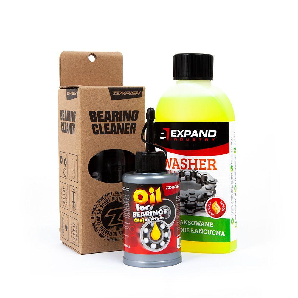 Zestaw do czyszczenia łożysk płyn olej i pojemnik