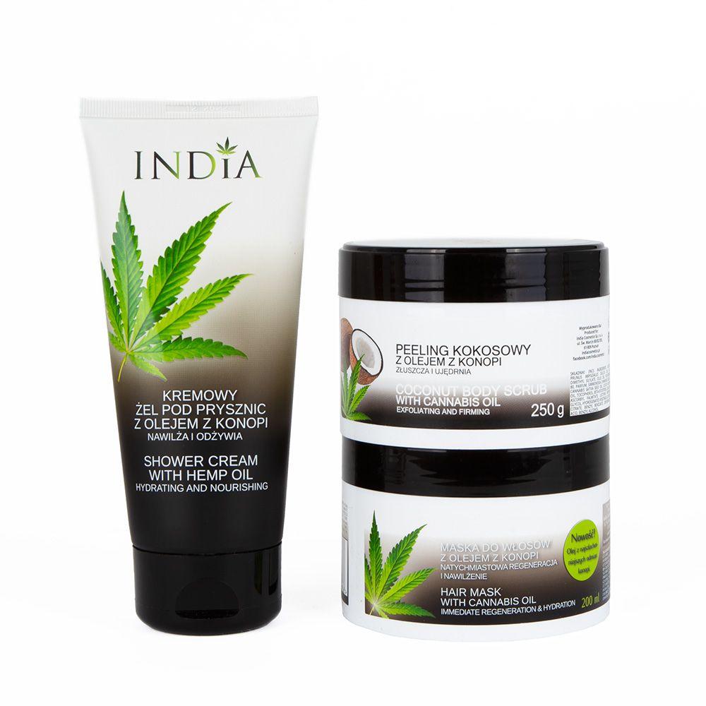 Zestaw kosmetyków India Cosmetics maska krem żel