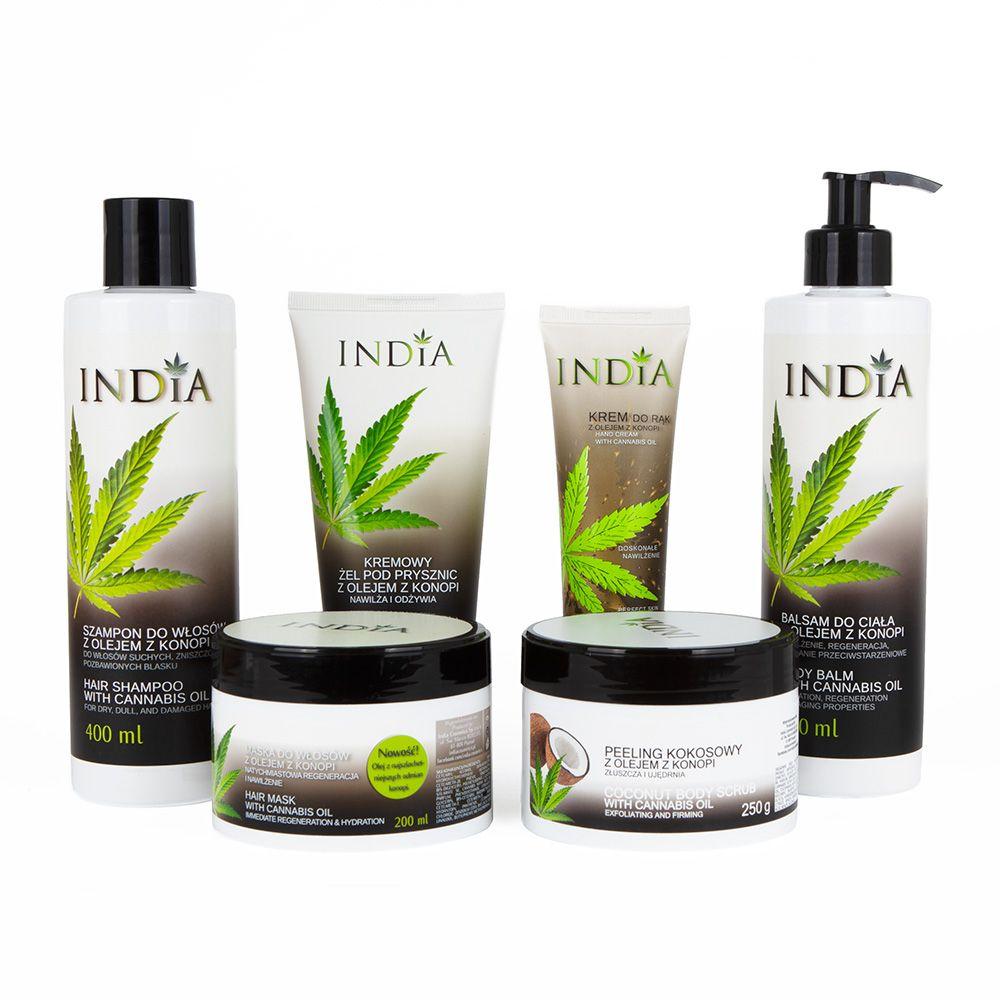 Zestaw kosmetyków konopnych India Cosmetics 6in1