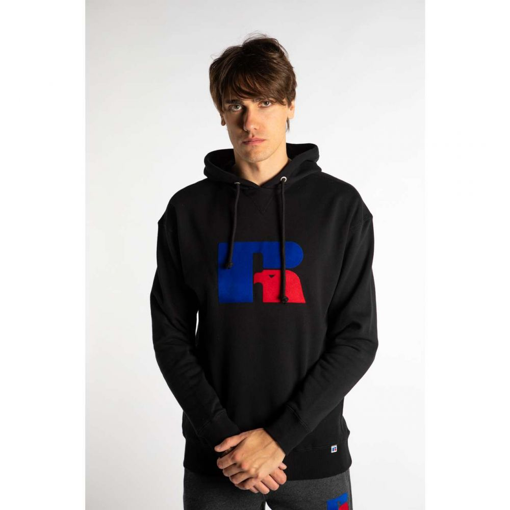 Bluza russell athletic mike hoody e96082 099 black black