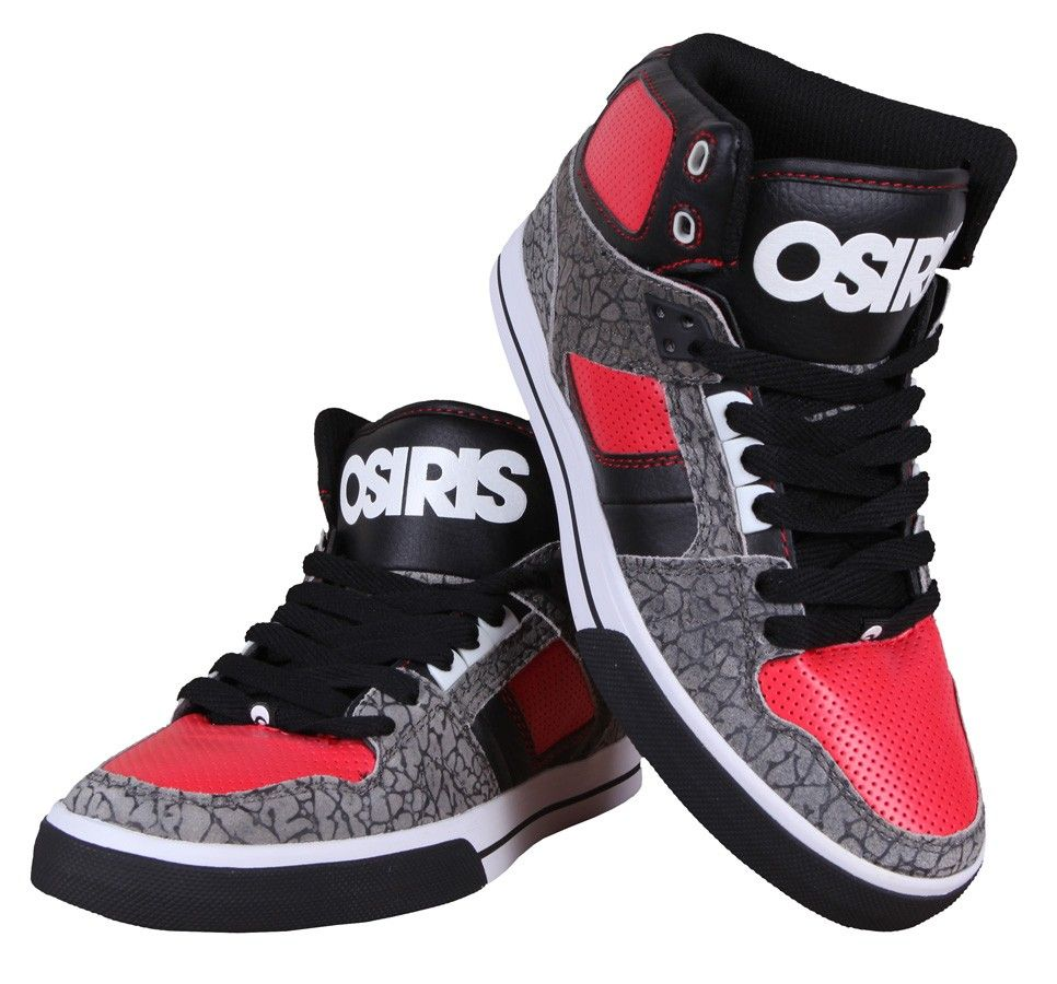 BUTY OSIRIS NYC 83 VULC GRY RED BLK KIDS