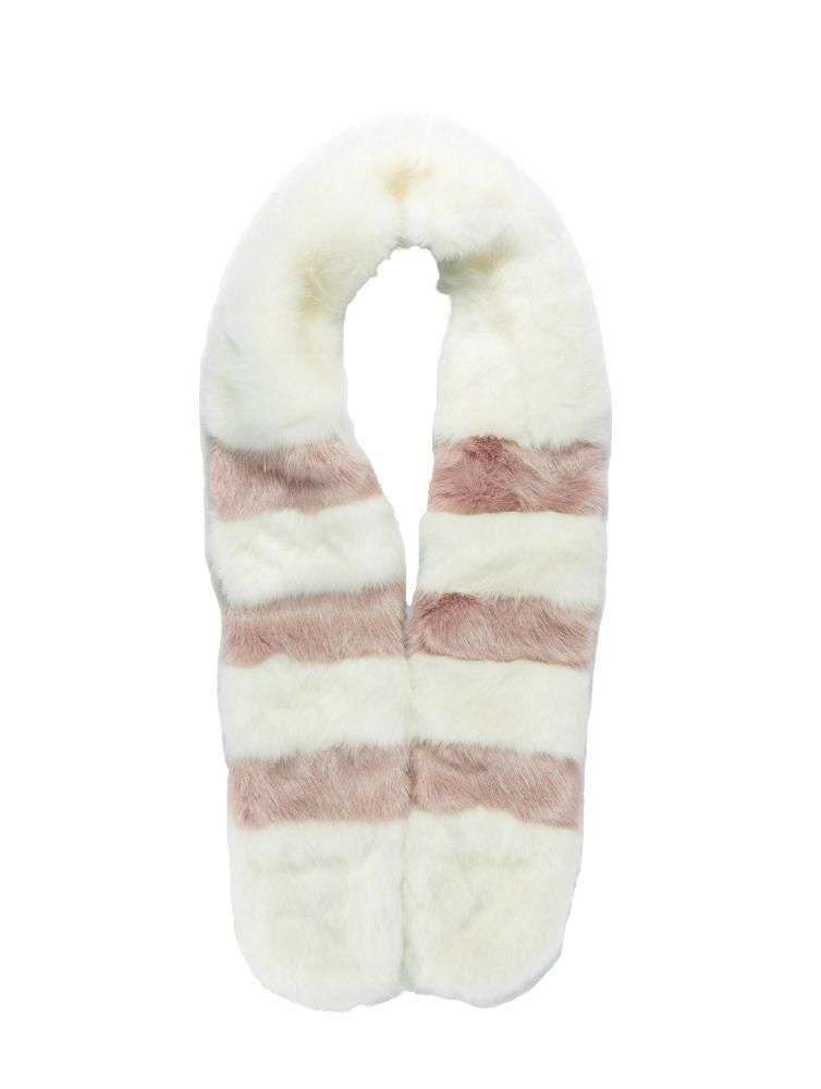 Szal Bangastic Fake Fur białe futro
