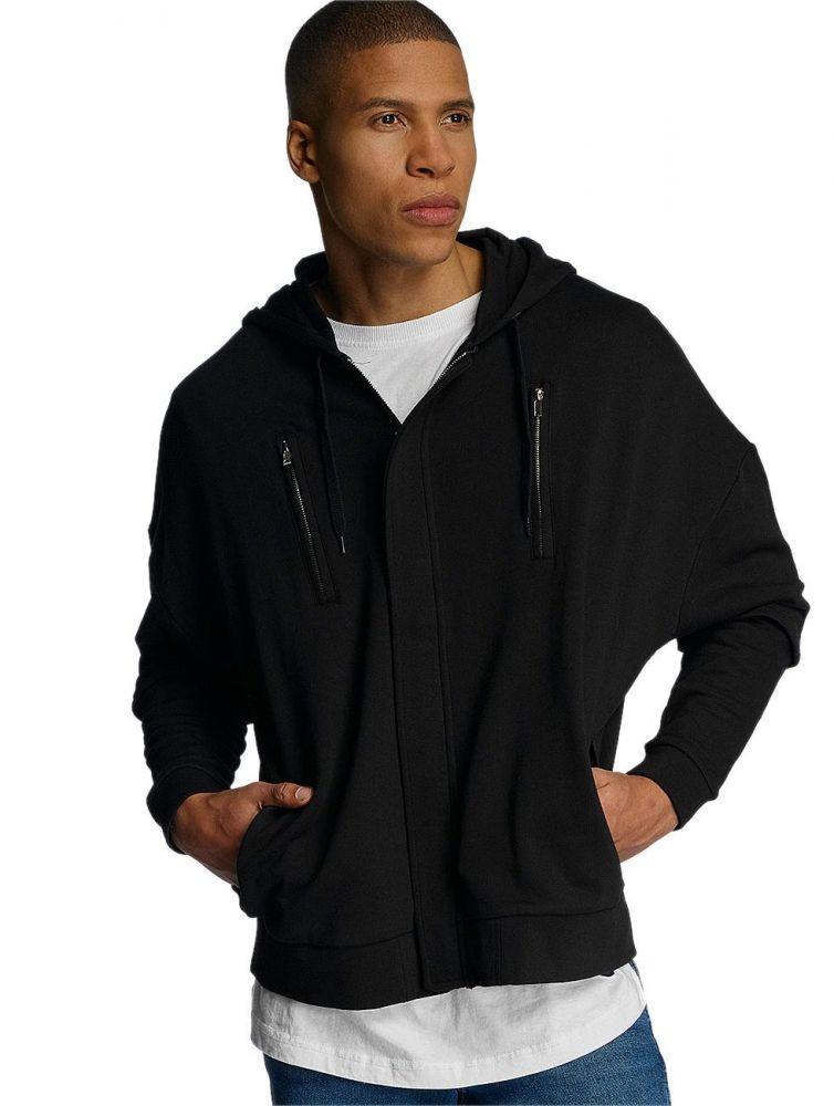 Bluza Bangastic Zip AE463 Oversize czarna