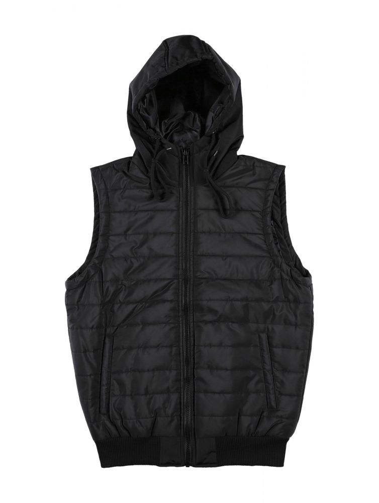 DEF / Vest Quilted in black