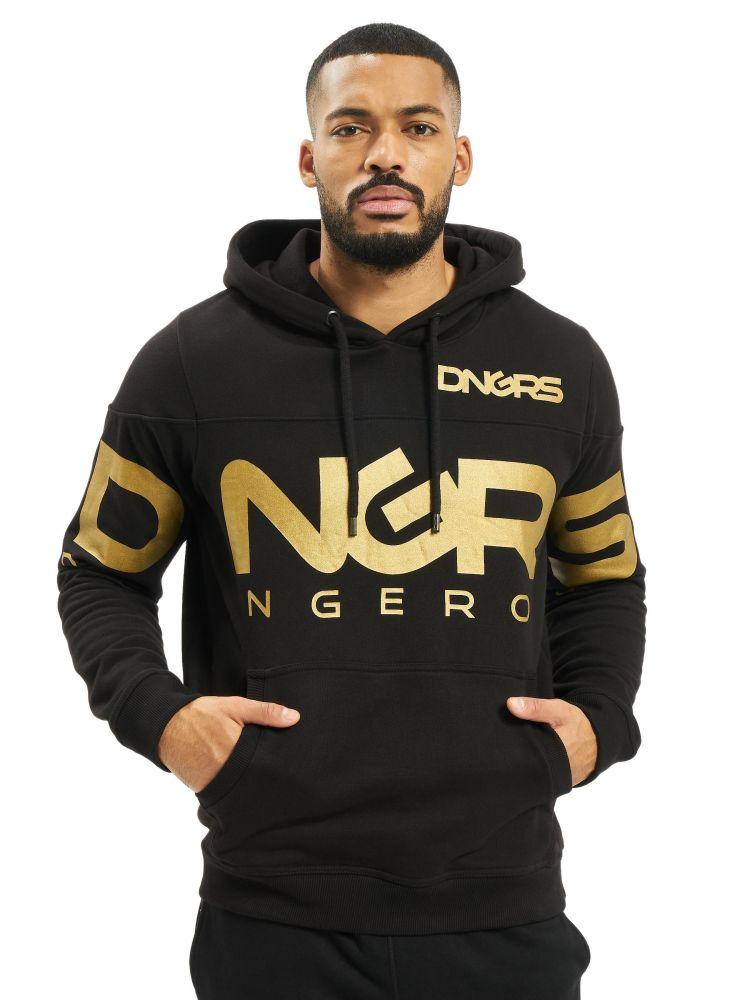 Bluza z kapturem Dangerous Gino czarna złoto