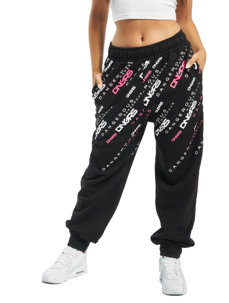 Dangerous DNGRS / Sweat Pant Down to Earth in black