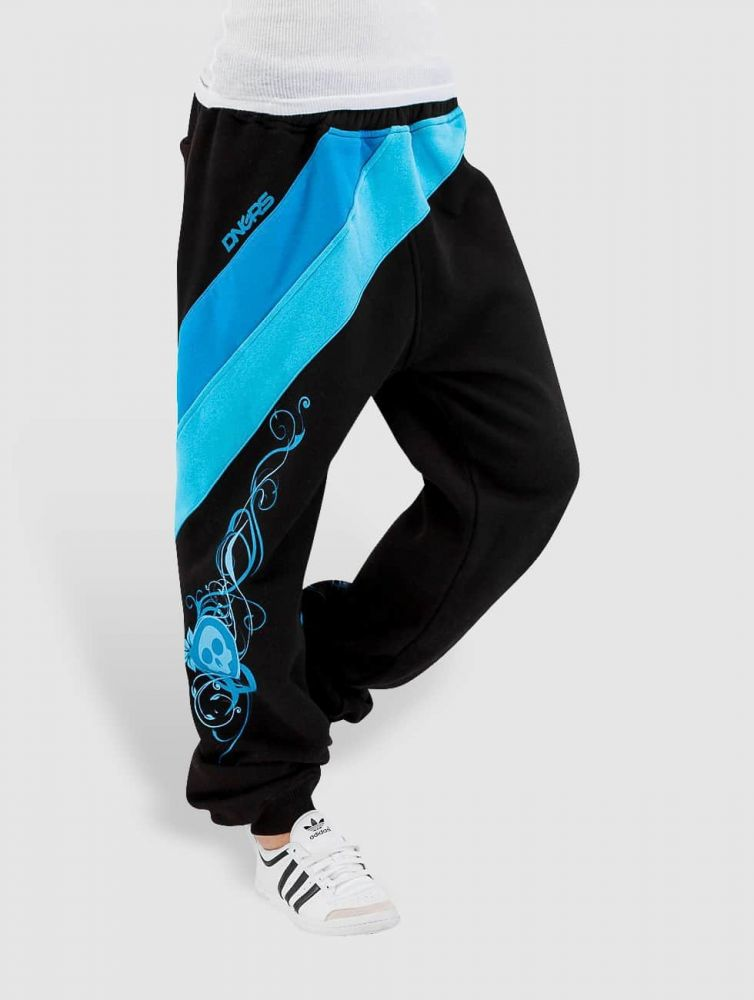 Spodnie dresowe Dangerous Skull czarne blu
