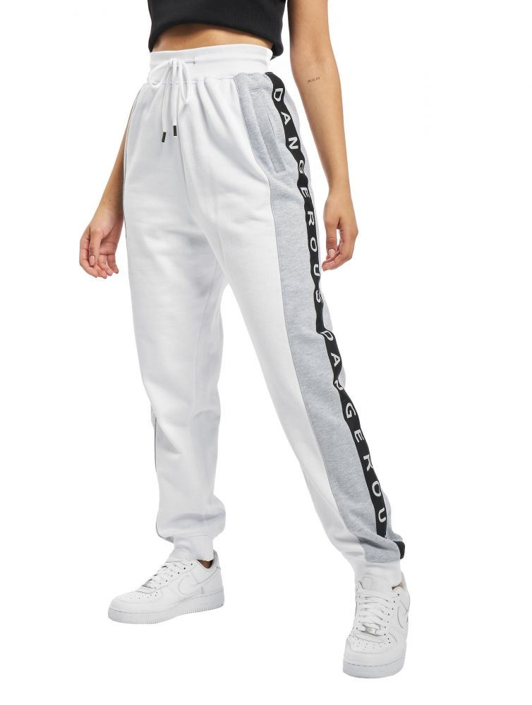 Damskie spodnie dresowe Dangerous Weare białe
