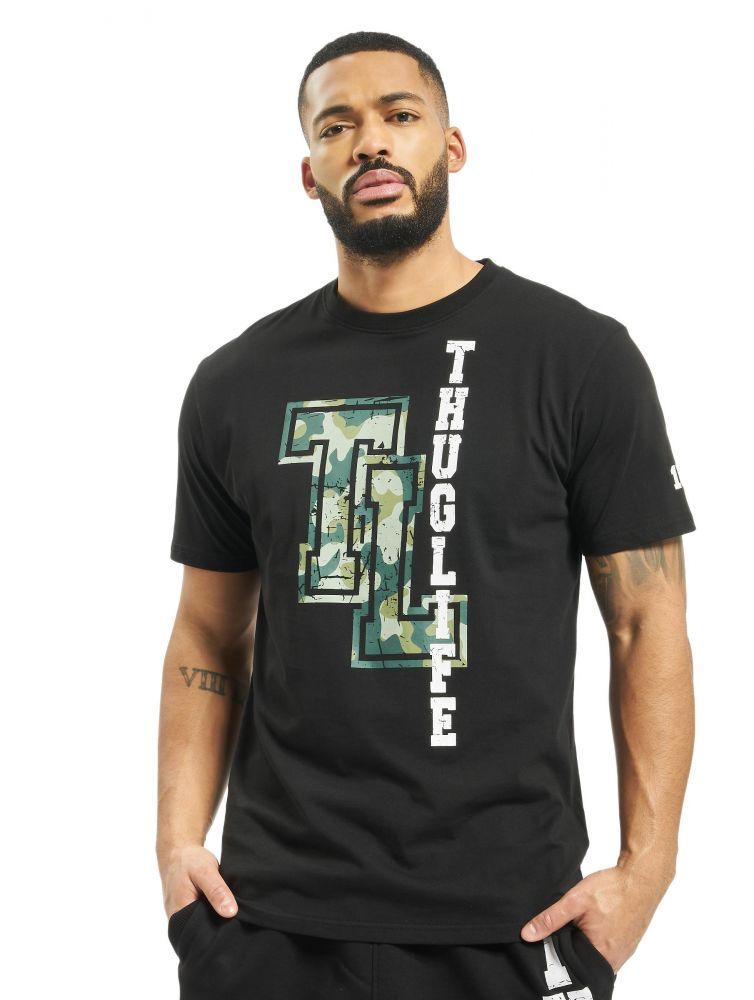 Koszulka Thug Life Under Pressure logo czarna