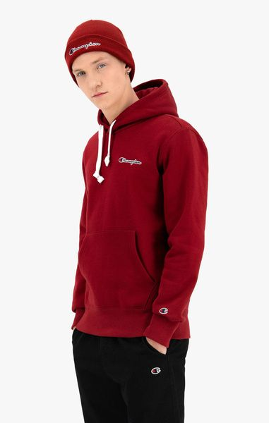 Bluza champion hoodie organic cotton blend script logo burgundy