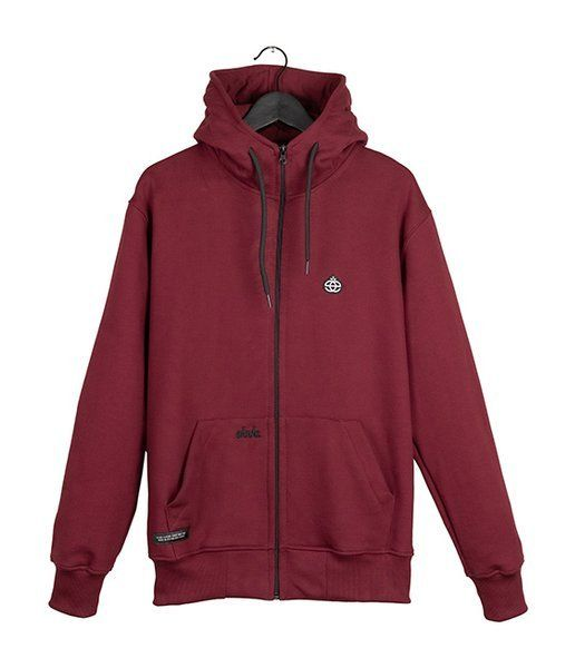 Bluza elade zip hoodie icon mini logo maroon