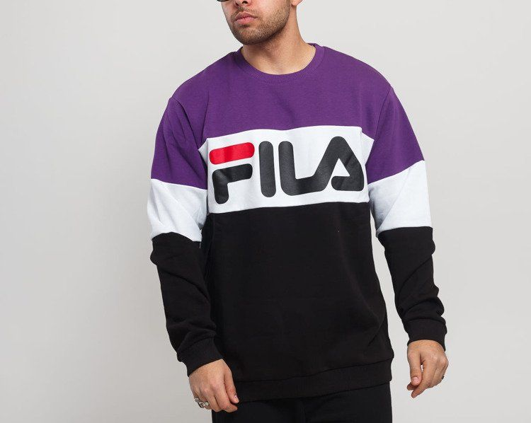 Bluza fila straight blocked (681255) black/tillandsia/purple