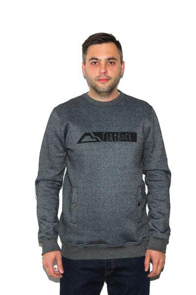 Bluza flatrock clothing black rock grey