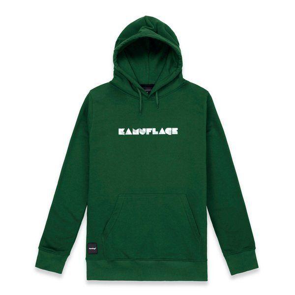 Bluza kamuflage hoodie future green